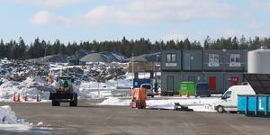 Efterfrågan på ny industrimark är stor i Nynäshamn. Bilden är tagen i det framväxande industriområdet Albyberg i grannkommunen Haninge.