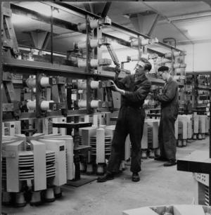 Asea-arbetare 1953. Foto: Åke Larsson