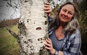 Kristina Marden  tycker det är spännande med allt  hälsosamt som naturen ger att äta helt gratis.