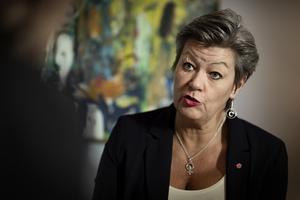 Arbetsmarknadsminister Ylva Johansson är ansvarig för Arbetsförmedlingen.