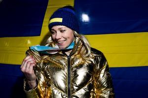 OS-guldet i Pyeongchang, Sydkorea, gjorde att Frida Hansdotter blev igenkänd.