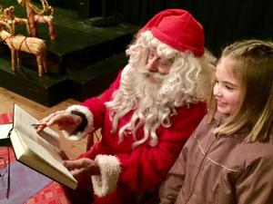 Ebba Lindberg, 7 år, träffade tomten i Wadköping.