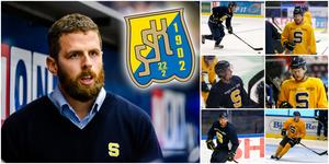 """Ulf Lundberg har börjat sätta ihop säsongens powerplayfemmor – och har flertalet skickliga forwards att välja bland. """"Det ska vara riktigt hård konkurrens"""", säger tränaren till Hockeypuls. Foton från Bildbyrån och Mittmedia."""