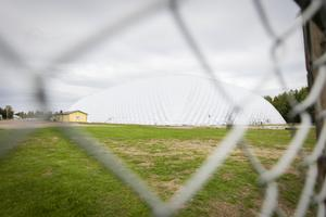 Fotbollshallen på Älvvallen i Ljusdal kan få ekonomiskt stöd av kommunen.