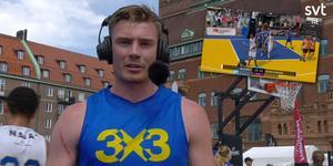 Lukas Friberg tog SM-guld i 3x3. Foto: Skärmdump från SVT