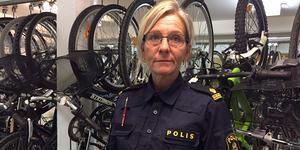 Många cyklar stjäls för att säljas, säger polisbefäl Terese Heidenborg vid Salapolisen.