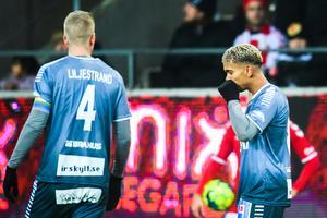 Seth Kanteh Hellberg deppade efter Brages kvalförlust mot Kalmar – men var samtidigt stolt över såväl sig själv som klubben i stort efter sin första säsong i grönvitt. Foto: Suvad Mrkonjic/Bildbyrån.