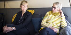 Lilian Sjölund och Malena Hilding vill diskutera sånt som tanter funderar över.