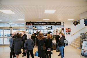 Västerås flygplats under inspelningen