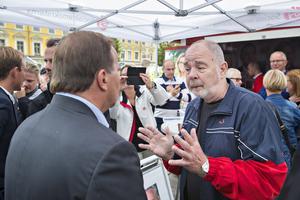 Kenneth Rubensson fick en stunds samtal med Stefan Löfven och passade på att lyfta frågor om cancervård.