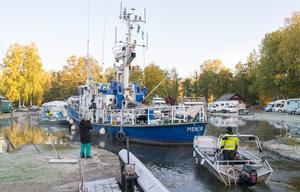 Totalt åtta båtar kom in under lördagen som var den sista dagen för båtsäsongen i Hjälmaren.