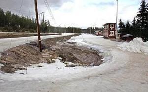 Upploppsrakan i Bergebo skidstadion.Foto: CURT KVICKER