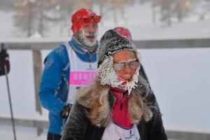 Det var en kall start för Öppet spår-åkarna på söndagen. I Smågan var det -24.