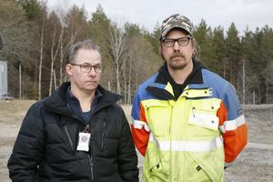 Magnus Danielsson (till höger) var tävlingsledare under Rimoracet i lördags. Här med distriktsdomaren Niklas Björkén.