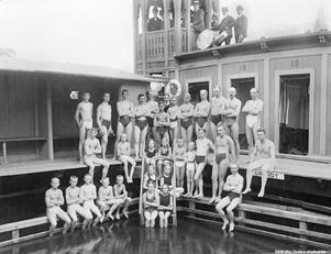 Simmare och orkester på 1920-talet. Okänd fotograf .  (Bildkälla: Örebro stadsarkiv)