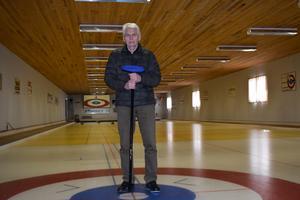 Elon Folkesson, sekreterare i Malungs curlingklubb.