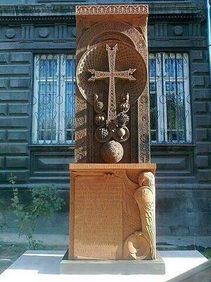 Ett v de stenhuggerier i Armenien som Karen arbetat med.