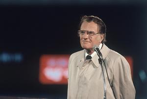 Den amerikanske evangelisten Billy Graham på en bild från 1980. Foto: TT