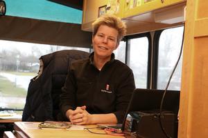 Sofia Björnfot har kört bokbussen i snart åtta år.
