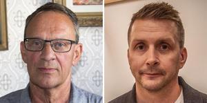 Jan Johansson (M), kommunstyrelsens vice ordförande och Marino Wallsten (S), kommunstyrelsens ordförande.