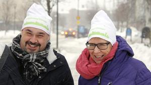 Christian Söderberg och Ewa Lindstrand var med på de 100 företagsbesöken på 100 dagar som gjordes under vintern och våren.