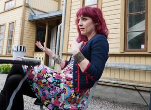 Anna Jörgensdotter ger skrivtips. Bild: TT