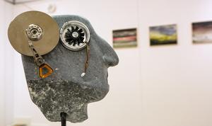 Vad drömmer en robot om? Ett av många stenhuvuden med applicerad elektronik.