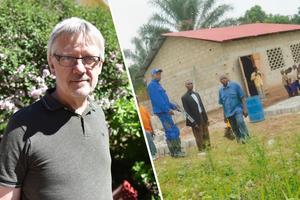 Göran Sundquist, pastor i Orsa missionsförsamling, berättar om deras arbete för att få till skolbyggnader i Mindouli.