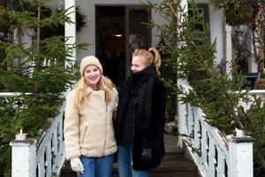 Vendela Wecktröm och Beata Hanses hade kommit från Gävle för att njuta av julstämningen.