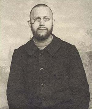Den Salabördige konstnären Ivan Aguéli. Foto: Okänd