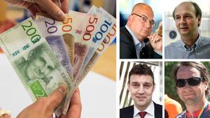 Tony Andersson, Ulf Jansson, Ulf Larsson och Toby Lawton är några av männen som leder löneligan i Medelpad.