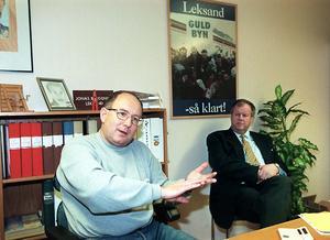 Olle Öst och Björn Doverskog bildade en dynamisk duo i Leksandsledningen under sju års tid. Foto: Kjell Jansson