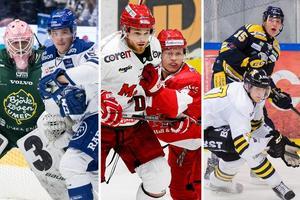 Björklöven, Leksand, Modo, Timrå, Södertälje och AIK hotade att dra sig ur allsvenskan och starta en nordisk liga. Foto: Arkiv och Bildbyrån.