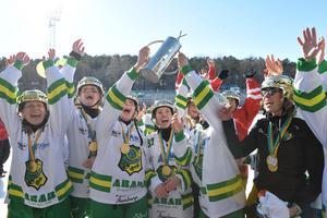 Skutskär startade damlaget 2016. Två år senare har man blivit svenska mästare.  Foto Janerik Henriksson / TT