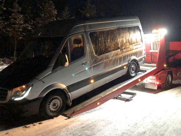 Bilen som stals från Kringdata är i dag så förstörd att de inte kan använda den längre.