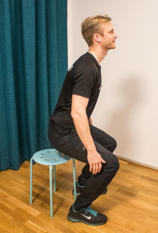 3. Hålla ryggen i mittläge.