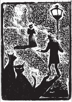 """""""Dödsmässa"""" är rikt illustrerad med träsnitt av konstnären Kristoffer Nilsson."""
