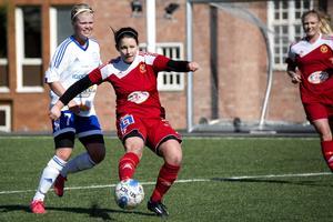Linnea Cantzler hade fina lägen att göra mål utan att lyckas.