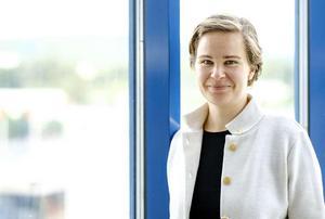 Eva Ollikainen, ny chefdirigent för Nordiska Kammarorkestern och en av många nyheter i nästa säsongs konsertprogram. Bild: Lia Jacobi