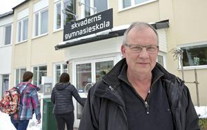Besparingarna i skolan slår hårt mot Skvaderns gymnasieskola och rektor Jan Kibe. Skolan får två miljoner mindre i bidrag för 2016.