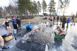 Första träffen kom cirka tjugo badare, den här gången uppskattar Andreas Sundberg antalet till cirka 30.
