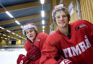 Jesper Samuelsson, till höger, här tillsammans med Dennis Persson – en annan spelare som inte gjorde något större avtryck.