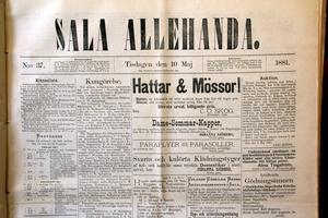 10 maj 1881. Då var de flesta annonserna små, och kostade 6 öre raden. En annan skillnad mot i dag var att de ofta fanns på framsidan.