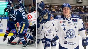 Fredrik Forsberg har öst in 21 poäng på 20 matcher under sin utlåning till BIK Karlskoga. Bilder: Anna-Lena Bergqvist/Daniel Eriksson/Bildbyrån.