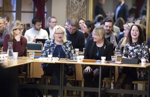 Åsa Wiklund Lång (S), Helene Åkerlind (L), Margaretha Wedin (C), Therese Metz (MP).