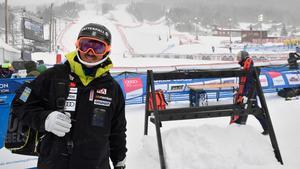 André Myhrers säsong fick ett abrupt slut när söndagens världscuptävlingar i Åre ställdes in.