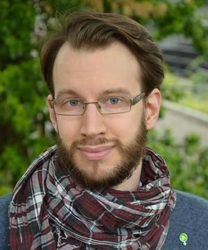 Johannes Wretljung Persson, förtroendevald (MP), deltog i uppstarten av samtalsgrupper under måndagskvällen.