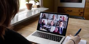 Antalet digitala möten har ökat kraftigt under coronakrisen.