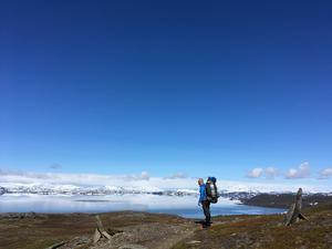 Sjön Virehaure på Padjelantaleden. Foto: Privat