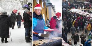 Bilder från tidigare års julmarknader vid Falu gruva.